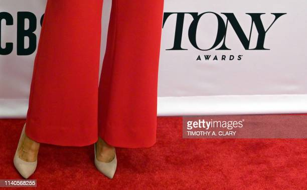 Best Featured Actress in a Play nominee Celia KeenanBolger arrives during the 2019 Tony Awards Meet the Nominees press recption on May 1 2019 in New...