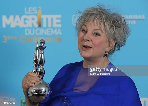 Best female second artist Yolande Moreau attends les Magritte du Cinema at the Square on February 2 2013 in Brussels Belgium