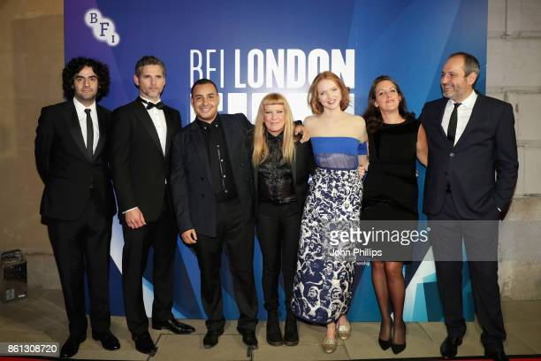 Best Film Jury members Babak Anvari Eric Bana Ashley Clark Andrea Arnoild Lily Cole Emma Thomas and Alexei Popogrebsky attend the 61st BFI London...