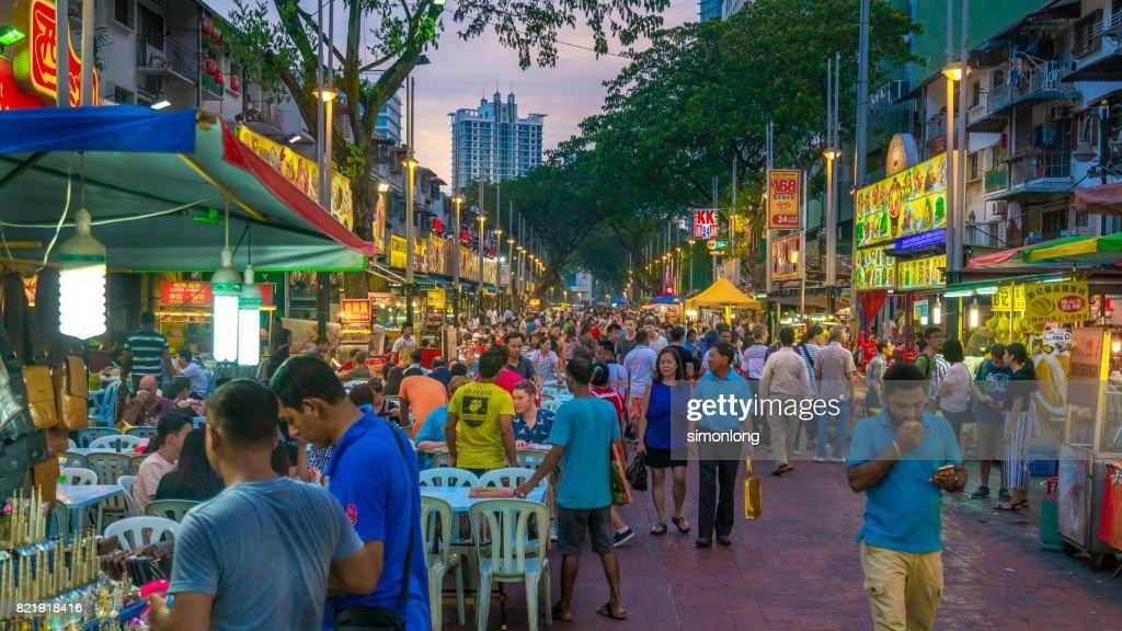 Best food street in Kuala Lumpur. : Stock Photo