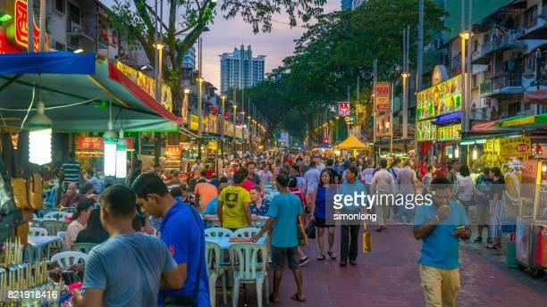 Best food street in Kuala Lumpur.
