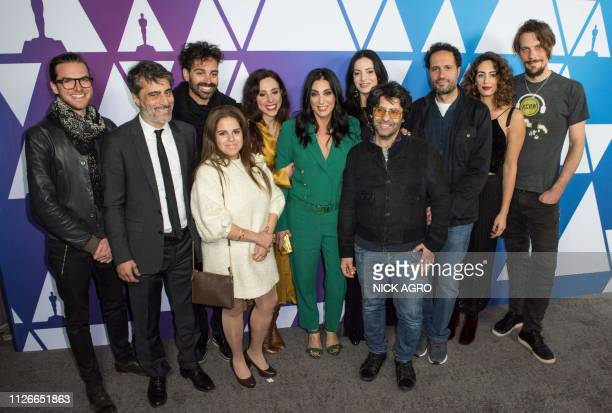 Best Foreign Language Film nominee for Capernaum Lebanese director Nadine Labaki arrives with her cast and crew for the Oscar Week Foreign Language...