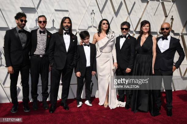 Best Foreign Language Film nominee for Capernaum Lebanese director Nadine Labaki her husband producer Khaled Mouzanar and members of the cast arrive...
