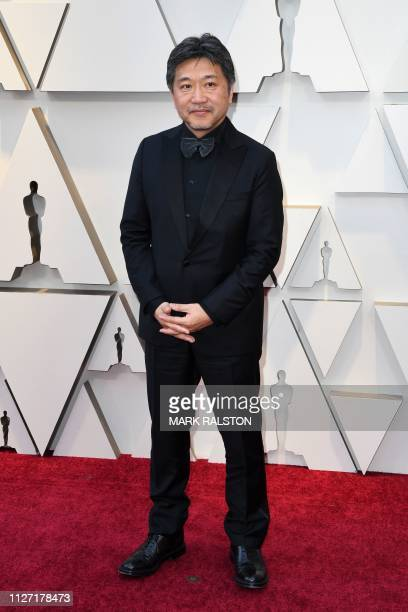 Best Foreign Language Film nominee for Shoplifters Japanese director Hirokazu Koreeda arrives for the 91st Annual Academy Awards at the Dolby Theatre...