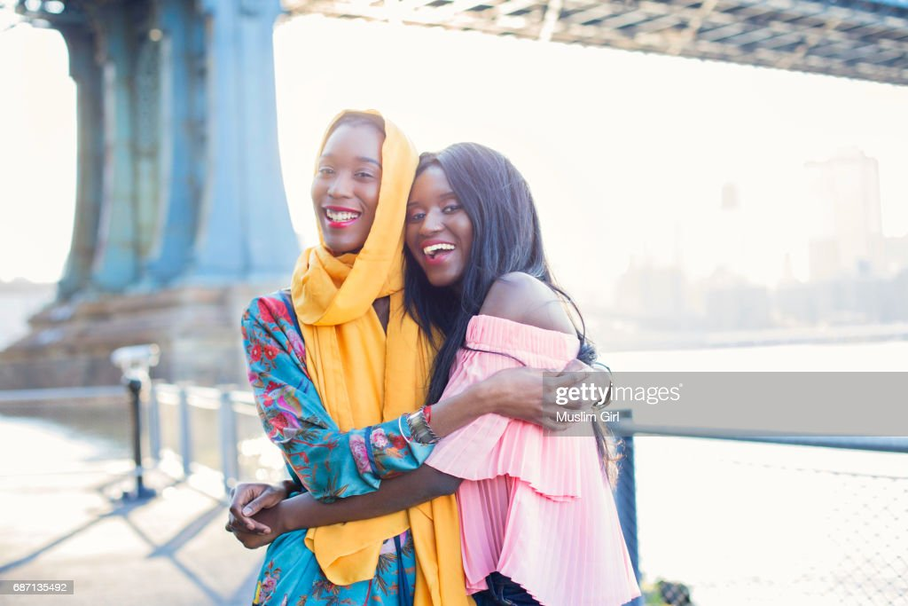 Best friend #MuslimGirls : Stock Photo
