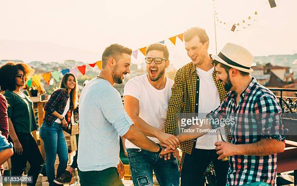 best friends at a party - work party stock pictures, royalty-free photos & images