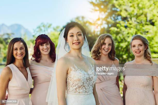 best friends make the best bridesmaids - bridesmaid stock pictures, royalty-free photos & images