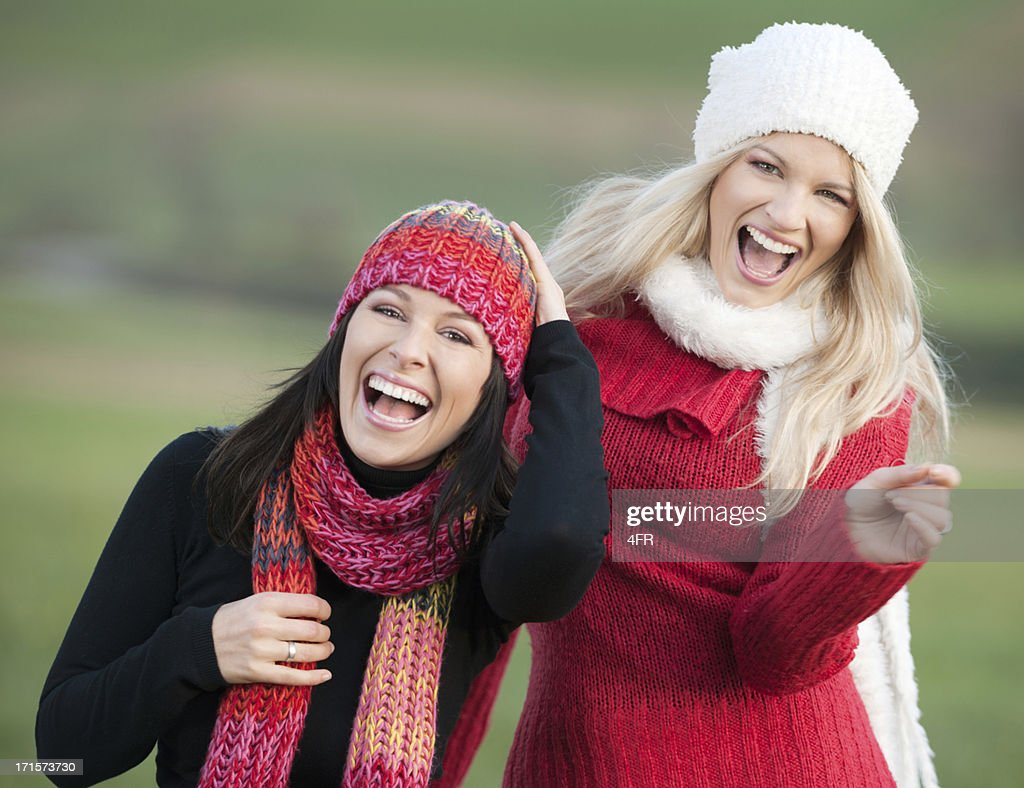 Best Friends Portrait Of Two Women Laughing Outdoor XXXL