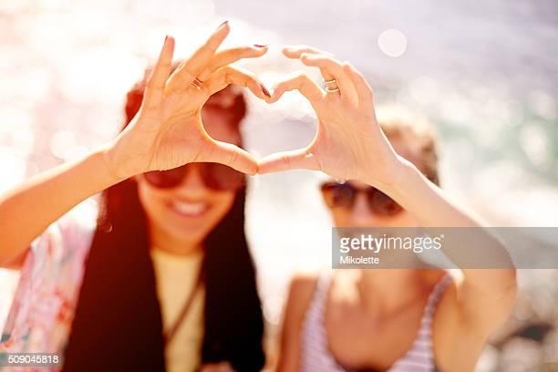 Meilleurs amis et partagez un moment de varier amour