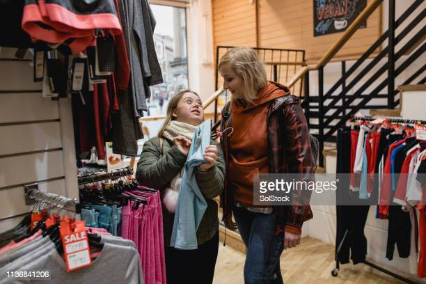 best friends shopping - disability collection stock pictures, royalty-free photos & images