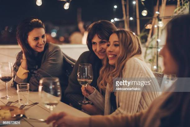 best friends, wine lovers - nightlife stock pictures, royalty-free photos & images