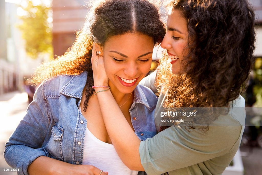 Best Girl Friends Share A Moment Together : Stock Photo