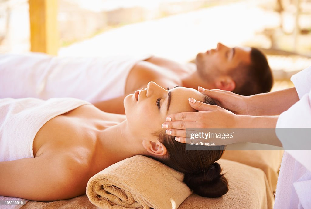 Best head massage : Stock Photo