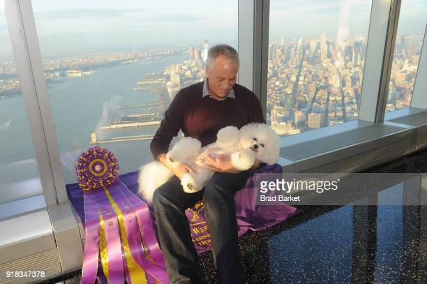 'Best in Show' at the Westmintster Kennel Club Dog Show Flynn a Bichon Frise and Bill McFadden visit One World Observatory the at One World...