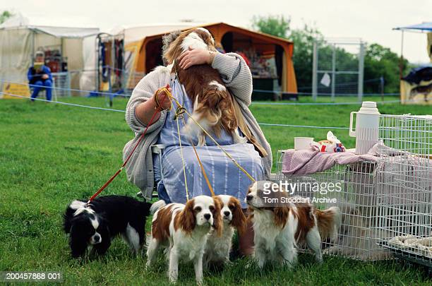 Best in Show competition at Rutland Show. Rutland, UK 1990.