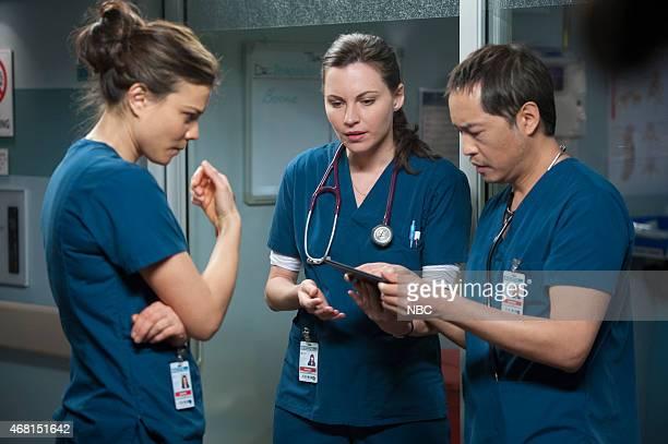 SHIFT Best Laid Plans Episode 208 Pictured Jeananne Goossen as Krista BellHart Jill Flint as Jordan Alexander Ken Leung as Topher Zia