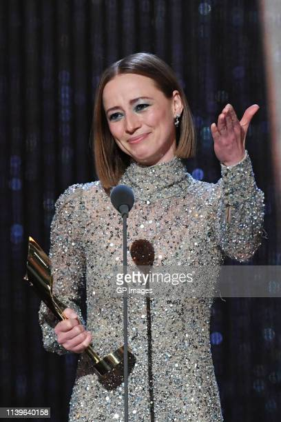 Best Lead Actress winner for 'Cardinal Blackfly Season' Karine Vanasse attends the 2019 Canadian Screen Awards Broadcast Gala held at Sony Centre for...