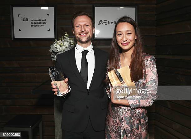 Best Limited Series award recipients Orlando Von Einsiedel and Joanna Natasagera attend the 32nd Annual IDA Documentary Awards at Paramount Studios...