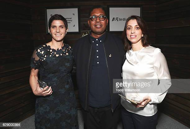 Best Limited Series award winners Moira Demos and Laura Ricciardi attend the 32nd Annual IDA Documentary Awards at Paramount Studios on December 9...