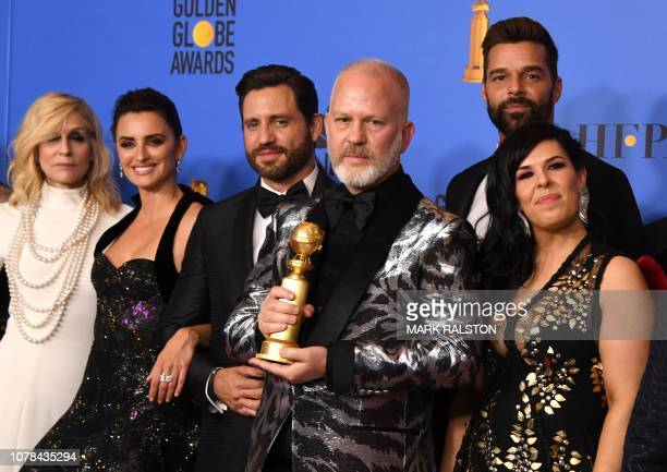 TOPSHOT Best Limited Series or Motion Picture Made for Television 'The Assassination of Gianni Versace' winners producer Ryan Murphy and actors...
