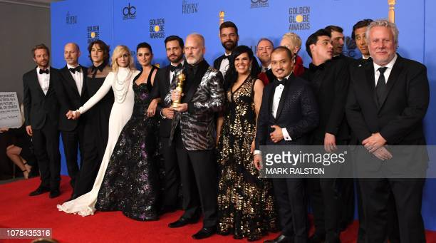 Best Limited Series or Motion Picture Made for Television 'The Assassination of Gianni Versace' winners producer Ryan Murphy and actors Penelope Cruz...