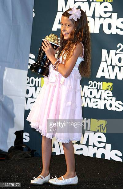 Best Line From A Movie winner Alexis Nycole Sanchez poses at the MTV Movie Awards at Universal Studios in Los Angeles California on June 5 2011 AFP...