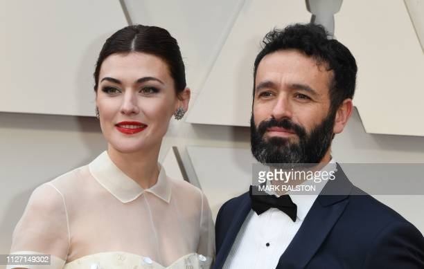 Best Live Action Short Film nominee for Mother director Rodrigo Sorogoyen and Marta Nieto arrive for the 91st Annual Academy Awards at the Dolby...