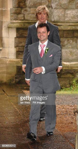 Best man Declan Donnelly and Nicky Clark leave StNicholas Church in Taplow Buckinghamshire after the wedding of Ant McPartlin and Lisa Armstrong...