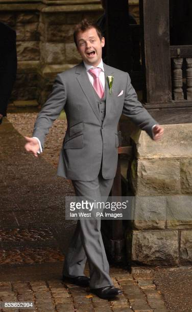 Best man Declan Donnelly stands outside StNicholas Church in Taplow Buckinghamshire for the wedding of Ant McPartlin and Lisa Armstrong Picture date...