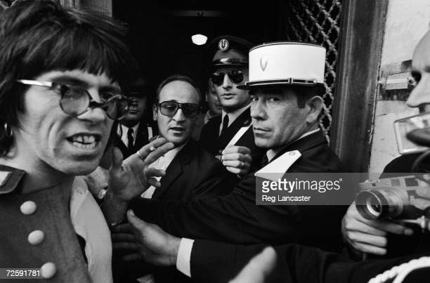 Best man Keith Richards outside the town hall in St Tropez at the wedding of Mick and Bianca Jagger 14th May 1971