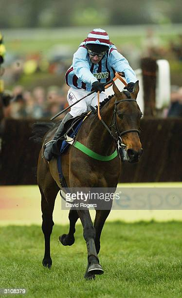 Best Mate ridden by Jim Culloty races away to win the Totesport Cheltenham Gold Cup held on the third day of the annual National Hunt Festival held...