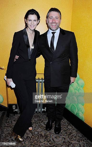 Best Model award winner Stella Tennant and David Sims pose at the British Fashion Awards 2011 at The Savoy Hotel on November 28 2011 in London England