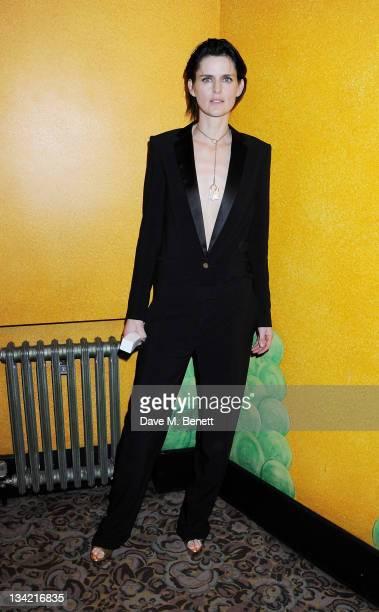 Best Model award winner Stella Tennant poses at the British Fashion Awards 2011 at The Savoy Hotel on November 28 2011 in London England