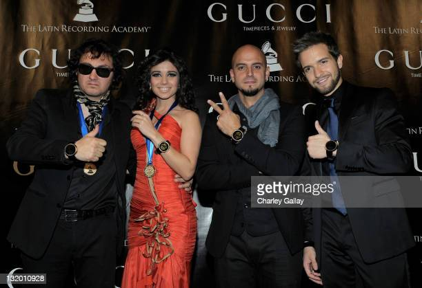 Best New Artist Nominees Uruguayan Max Capote Brazilian Paula Fernandes Puerto Rican Sie7e and Spaniard Pablo Alboran are honored at 'Gucci...
