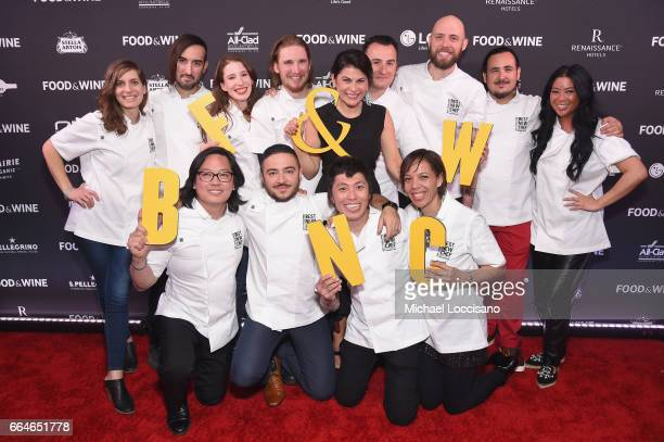 Best New Chefs Sara Kramer, Jordan Kahn, Sarah Hymanson, Noah Sandoval, Food & Wine's Nilou Motamed, Val Cantu, Jay Blackinton, Rico Torres, Angie...