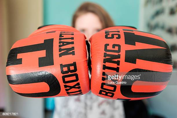 best of month - green glove stock photos and pictures