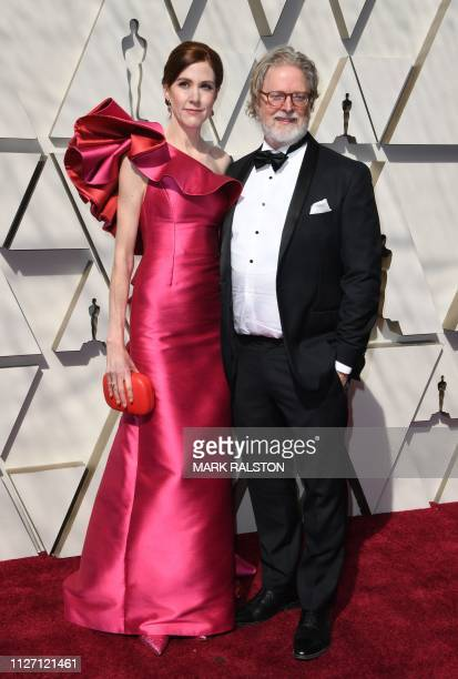 Best Original Screenplay nominee for 'The Favourite' Tony McNamara and guest arrive for the 91st Annual Academy Awards at the Dolby Theatre in...