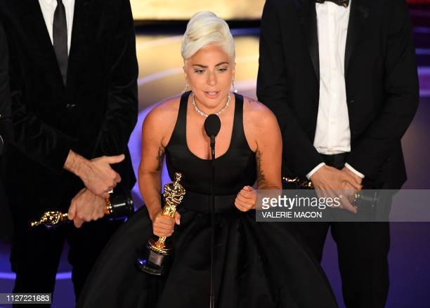 Best Original Song nominees for Shallow from A Star is Born Lady Gaga accepts the award for Best Original Song during the 91st Annual Academy Awards...
