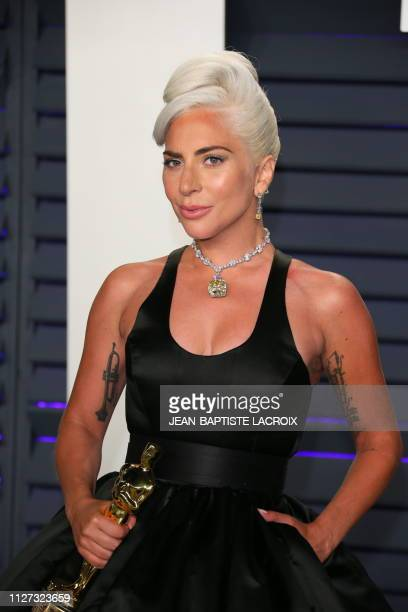 Best Original Song winner for Shallow from A Star is Born Lady Gaga attends the 2019 Vanity Fair Oscar Party following the 91st Academy Awards at The...