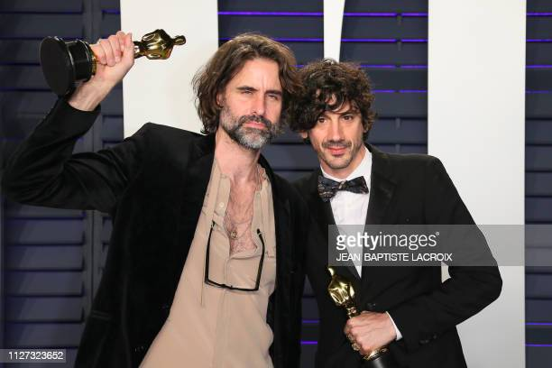 Best Original Song winners for 'Shallow' from 'A Star is Born' Andrew Wyatt and Anthony Rossomando attend the 2019 Vanity Fair Oscar Party following...