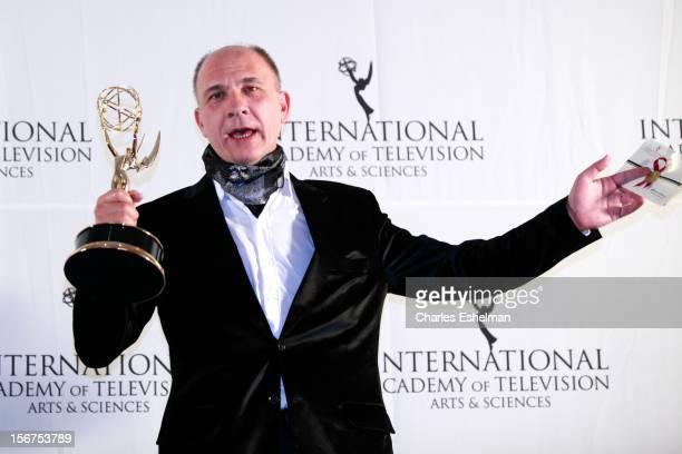 Best Performance By Actor winner Dario Grandinetti attends the 40th International Emmy Awards at Mercury Ballroom at the New York Hilton on November...