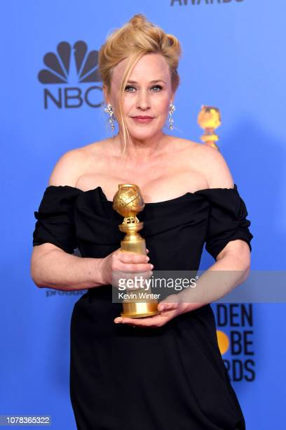 Best Performance by an Actress in a Limited Series or Motion Picture Made for Television for 'Escape at Dannemora' winner Patricia Arquette poses...