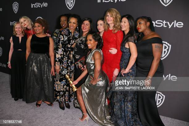 Best Performance by an Actress in a Limited Series or Motion Picture Made for Television for Seven Seconds winner Regina King arrives with others for...