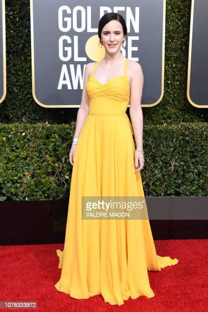 Best Performance by an Actress in a Television Series Musical or Comedy for The Marvelous Mrs Maisel nominee Rachel Brosnahan arrives for the 76th...