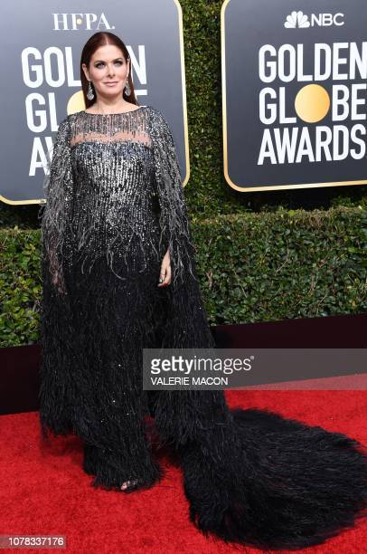 Best Performance by an Actress in a Television Series Musical or Comedy for Will Grace nominee Debra Messing arrives for the 76th annual Golden Globe...