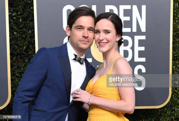 Best Performance by an Actress in a Television Series Musical or Comedy for The Marvelous Mrs Maisel nominee Rachel Brosnahan and US actor Jason...