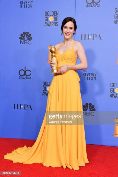 Best Performance by an Actress in a Television Series, Musical or Comedy, Winner for 'The Marvelous Mrs. Maisel' Rachel Brosnahan poses in the press...