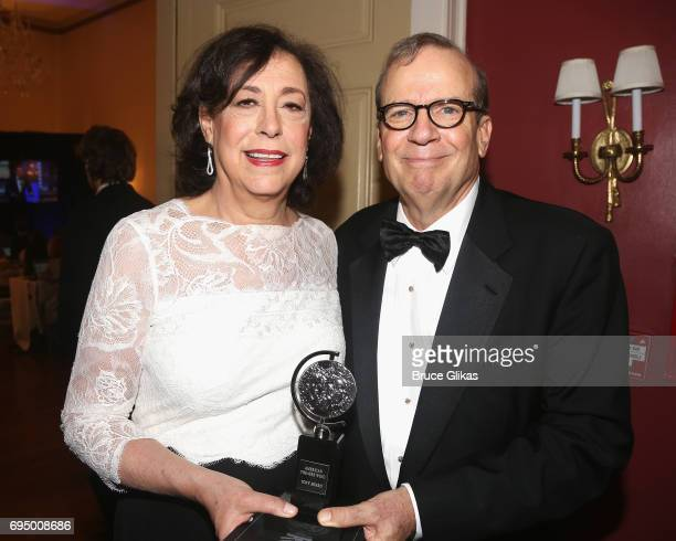 Best Play Revival 'Jitney' Winners Lynne Meadow and Barry Grove pose in the press room during the 71st Annual Tony Awards at 3 West Club on June 11,...