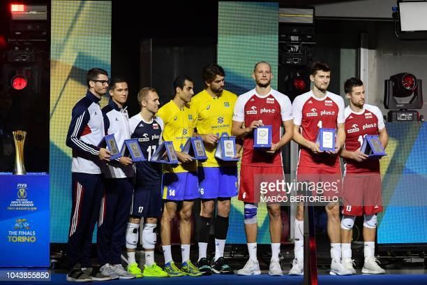Best players of the tournament Poland's Michal Kubiak Poland's Piotr Nowakowski Poland's Bartosz Kurek Brazil's Lucas Saatkamp Brazil's Douglas Souza...