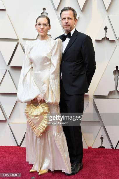 Best Production Design nominee Fiona Crombie and Peter Knowles attend the 91st Annual Academy Awards at Hollywood and Highland on February 24 2019 in...
